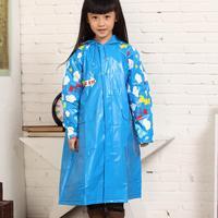 Eco-friendly child raincoat set school bag belt