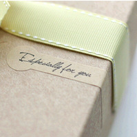 Wholesale,(1 Lot =900 Pcs) 1.5*8 CM DIY Scrapbooking Kraft Paper Labels Envelope Stickers Especially For You Seal Sticker