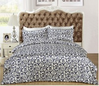 chinese style  printed  4 pcs  pure Silk satin Bedding Set   silk duvet cover  flat sheet and pillowcases ,duvet cover