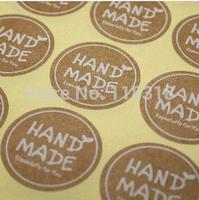 Wholesale,(1 Lot =600 Pcs) 3.5*3.5 CM DIY Scrapbooking Kraft Paper Hand Made Labels Envelopes Stickers Seals Sticker
