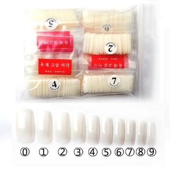 False Nail Tips, 500pcs/bag Natural White French Acrylic Fake Nails, DIY Full Cover ...