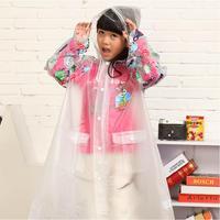 Child raincoat cartoon raincoat family fashion children's clothing eco-friendly poncho school bag belt