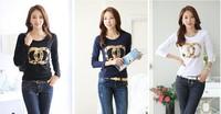 Free Shipping 2014 new  style women clothes women t shirt  brand cotton t shirt women casual crop top women clothing