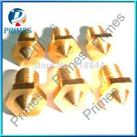 Wholesale 5pcs/lot 3D Printer Nozzle Full Metal M6 threaded Nozzle 0.2mm/0.3mm/0.4mm For E3D 1.75mm/3.0mm Filament DIY Reprap