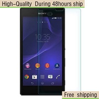 High Quality Scratch Resist Tempered Glass Screen Protector For Sony Xperia T3 M50W Free Shipping DHL HKPAM CPAM