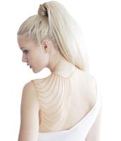 Rehanna Punk Fashion Gold Multilayer Tassel Body Chain Fine Chains Exaggerated Bib Statement Jewelry for Women