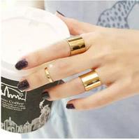 3pcs/set Gold /Matte Gold Plated Metal Ring Set Master Sun Jun Hyo Jin Same Paragraph European style Joint Ring Combination Ring