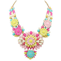 New fashion multicolor flower necklace X4951