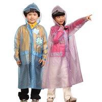 Eco-friendly raincoat student child poncho school bag belt child