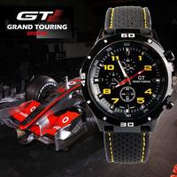 GT Watch 2014 F1 Men Sports Watch Luxury Brand Silicone Strap Fashion Quartz Army Cool Watch men Military Wristwatch