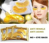 2pcs (one pack) Gold Bio Crystal Collagen Eye Masks Patches Anti-aging anti eye bags anti-winkle