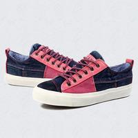 Denim Patchwork Design Women Canvas Flats 2014 New Men Casual Footwear Eu 35-43 Comfortable Lovers Fashion Sneakers