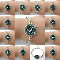 Zodiac Jewelry Bracelets Astrological Symbol Ram Aug,Birthday, Astrology Art Pendant bangles Aries,Capricorn,Leo,Libra,Virgo