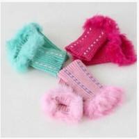 Min Order $15(mixed order)  Fashion girl Wool  Rabbit hair  Typing Glove  1748yx