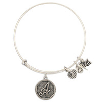 2014 65mm diameter silver plated simple Alex And Ani  bracelets for beading or charms letters