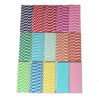 Free shipping 25Pcs red kraft Paper Drinking Straws Party Decor Stripe Colors Wedding diy straw Birthday Holiday DropShipping