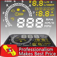 2014 New 5.5 inch LED Car HUD Head Up Display OBDII Interface Plug/Play Speed Warn System W02
