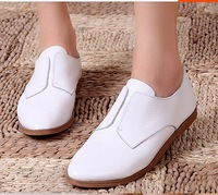 Autumn new arrival 2014 fashion simple cowhide casual shoes soft leather shoes foot single shoes