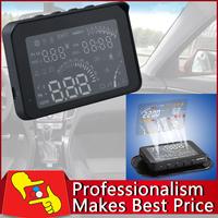 4 inch HUD Car Head Up Display Bluetooth Wireless KM/MPH RPM Voltage Clock Temp Free shipping