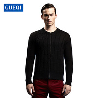 2014 Autumn and winter raglan sleeve design with open stitch  round neck cotton quality men's casual sweater