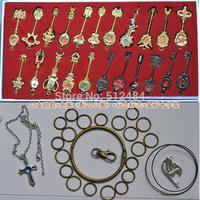 Fairy Tail Lucy 22pcs/set Cosplay Key Keychain Scale & Free Pink Tattoo Heartfilia sign of the zodiac gold Key