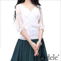 Wholsale 2014 Summer Women's 3/4 sleeves chiffon blouse shirt SA10239X
