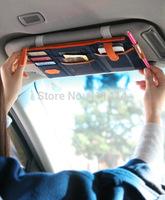 50pcs/lot FEDEX IE Freeshipping  Multifunction Sun visor Storage bag Car hanging bag storage bag of sun visor