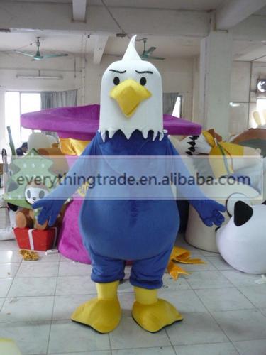 2014 New Professional cartoon blue bird Mascot Costume Fancy Dress Adult Size Halloween(China (Mainland))