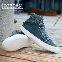 Denim Upper Patchwork Design Lovers Casual Sneakers Eu 35-43 Zipper Decorated Rubber Out-sole Unisex Men Fashion Flats