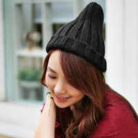 Women's knitted hat high quality hat knitted hat with the trend of autumn and winter hiphop cap kuukaa