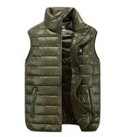 High Quality Autumn Winter  Man's Down Vest Stand Collar Fashion Down Waistcoat For Men White Duck Down 90% M-XXL VT-109
