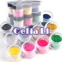 12 colors jumbo size Nail Decoration Fuzzy Flocking Velvet Nail Powder For acrylic UV gel Nail Art tools Tips free shipping