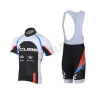 Freefisher Men's Cycling Bicycle Short Sleeve Jersey/Shorts/Bib Shorts set Cube