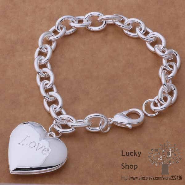 AH290 925 sterling silver bracelet 925 sterling silver fashion jewelry love heart beyajwfa ewqannxa