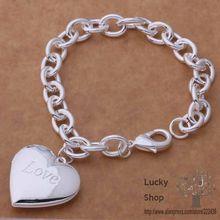 AH290 925 sterling silver bracelet, 925 sterling silver fashion jewelry love heart /beyajwfa ewqannxa