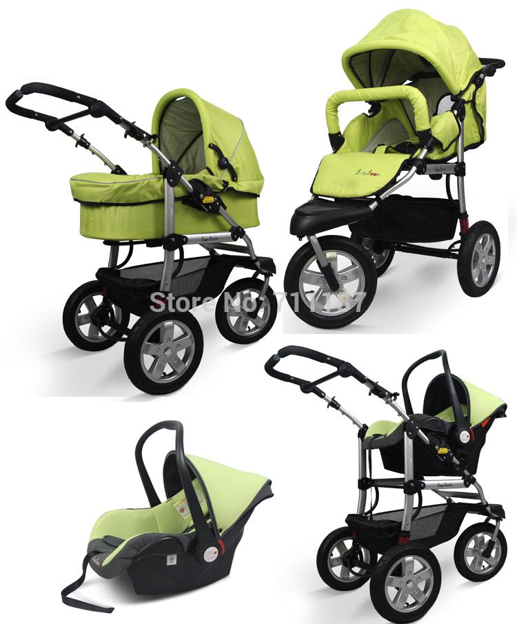 3 колеса роскошный детская коляска корзина 3 в 1 новый