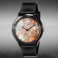 Hot Willis for Mini Maps Pattern Design Fashion women dress Water Resistant Analog Wrist quartz Watch ladies watch free shipping