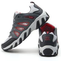 2014 Hot Sale Summer Men & Women Breathable Hiking Shoes EU 36-44 Sky PU & Mesh Unisex & Lovers Fashion Athletic Shoes