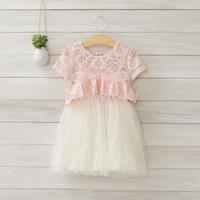 Wholesale ! Girls summer lace gauze dress , dress for girls ,5pcs/lot   DMJ21