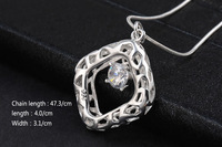 GSSPP031 Silver Valentine's day gift! pendant necklace,high quality silver stones necklace,fashion neckalce jewelry