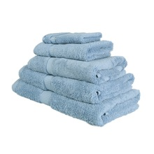 1 PCS Free Shipping 100% Cotton Towel Set Solid Blue Plain Dyed Satin Towels Face Bath Towel Floor Mat Top Selling Handkerchief(China (Mainland))