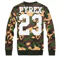 2014 Autumn winter New Versa Hip-hop men women's GD PYREX VISION 23 3d print pullovers GIV Brand Galaxy Sweatshirts Hoodies Tops