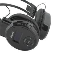 Hot! wholesale colorful Sport MP3 Player LCD Mirco SD Card Slot Headphone Foldable Wireless FM Radio Headset