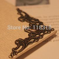 Wholesale, (1 Lot=100 Pcs) DIY Scrapbooking Antique Bronze Metal Photo Albums Corners Protectors Book Decorative Corner