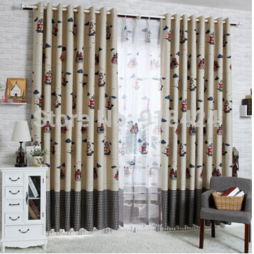 products pirate ship grid boys bedroom blackout curtains kids curtain
