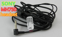 50piece/lot mh750 750 Brand Good sound black MH750 earphone headphone headset with mic for SONY XPERIA lt26 lt22 l36h mh750