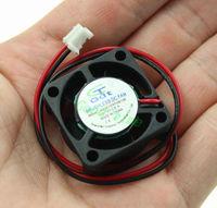 2 pcs 25mm x 25mm x 10mm DC Brushless Mini Cooling Cooler Fan for PC Chipset VGA Video Heatsink 12V 2Pin