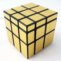 Free shipping 3x3x3 Mirror Blocks Golden  Shiny Magic Cube Puzzle 3x3