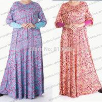 Free Shipping Plus Size Cotton Muslim abaya jilbab islamic clothing for women MU10026