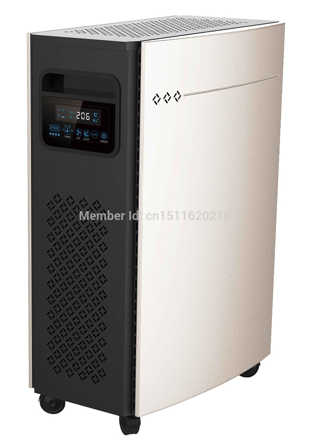Room Air Purifier with Activated Carbon Filter, HEPA Filter and Negative Ions Output, office air purifier(China (Mainland))